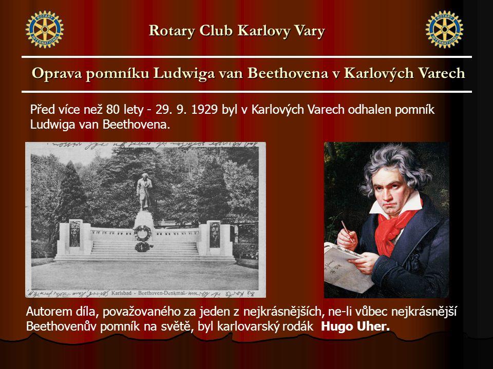 Před více než 80 lety - 29. 9. 1929 byl v Karlových Varech odhalen pomník Ludwiga van Beethovena. Autorem díla, považovaného za jeden z nejkrásnějších