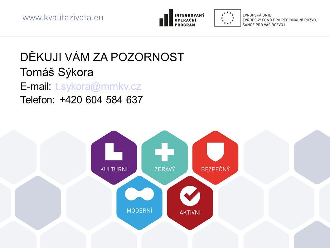 DĚKUJI VÁM ZA POZORNOST Tomáš Sýkora E-mail: t.sykora@mmkv.cz Telefon: +420 604 584 637t.sykora@mmkv.cz