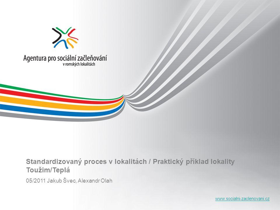 www.socialni-zaclenovani.cz Standardizovaný proces v lokalitách / Praktický příklad lokality Toužim/Teplá 05/2011 Jakub Švec, Alexandr Olah