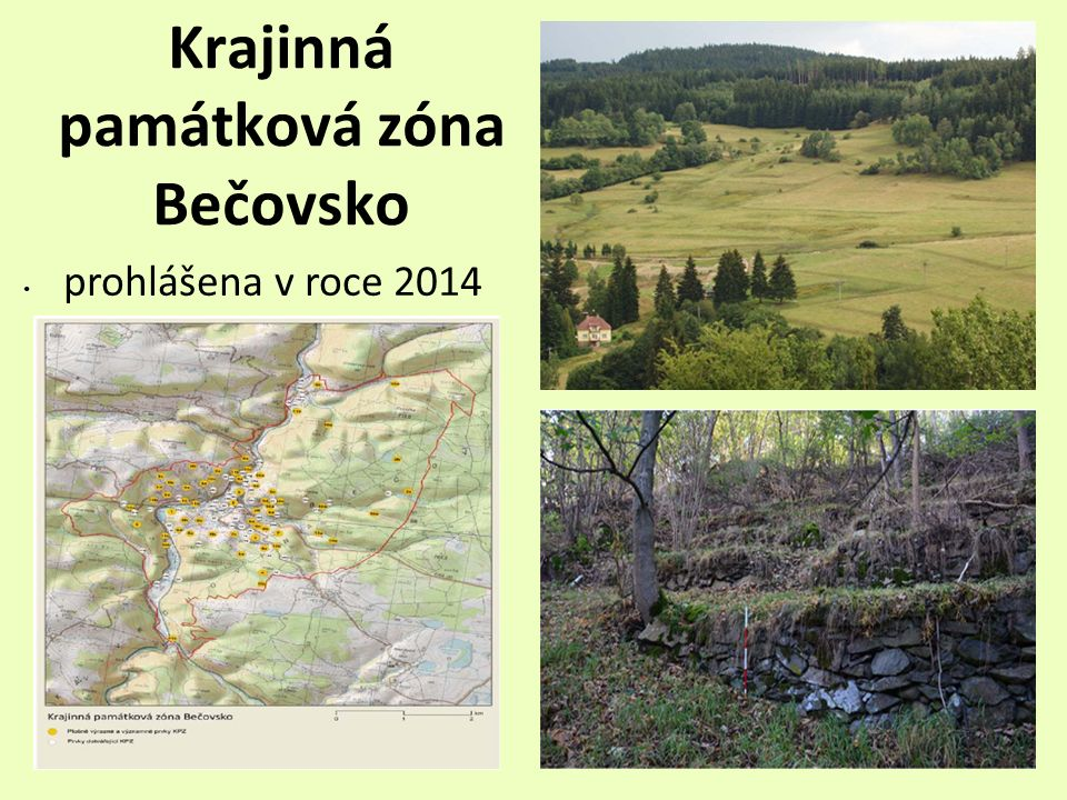 Krajinná památková zóna Bečovsko prohlášena v roce 2014