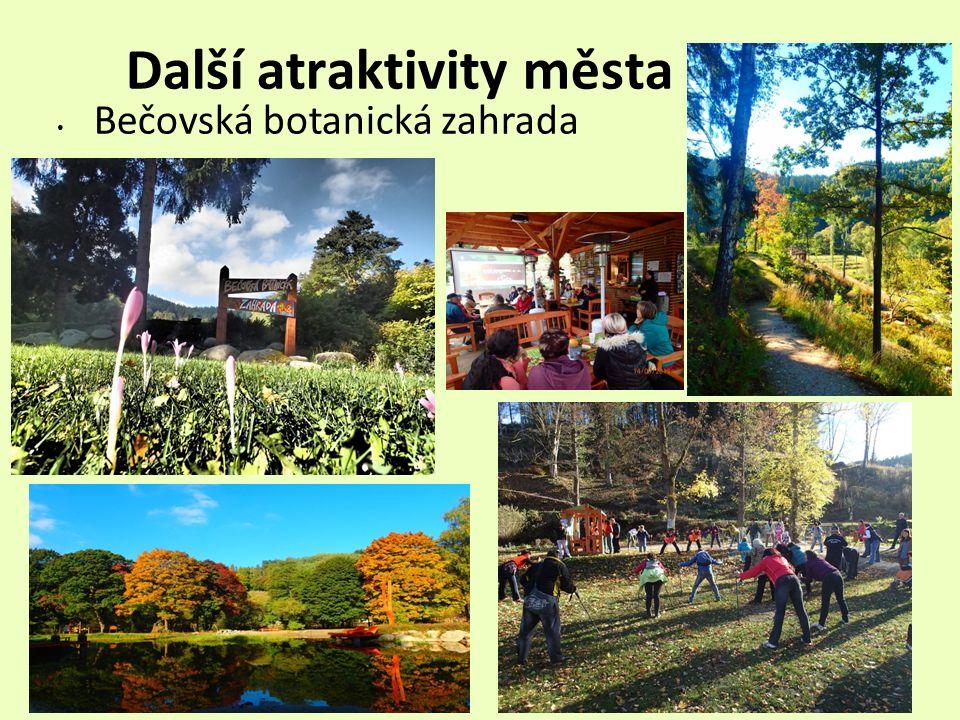 Další atraktivity města Bečovská botanická zahrada