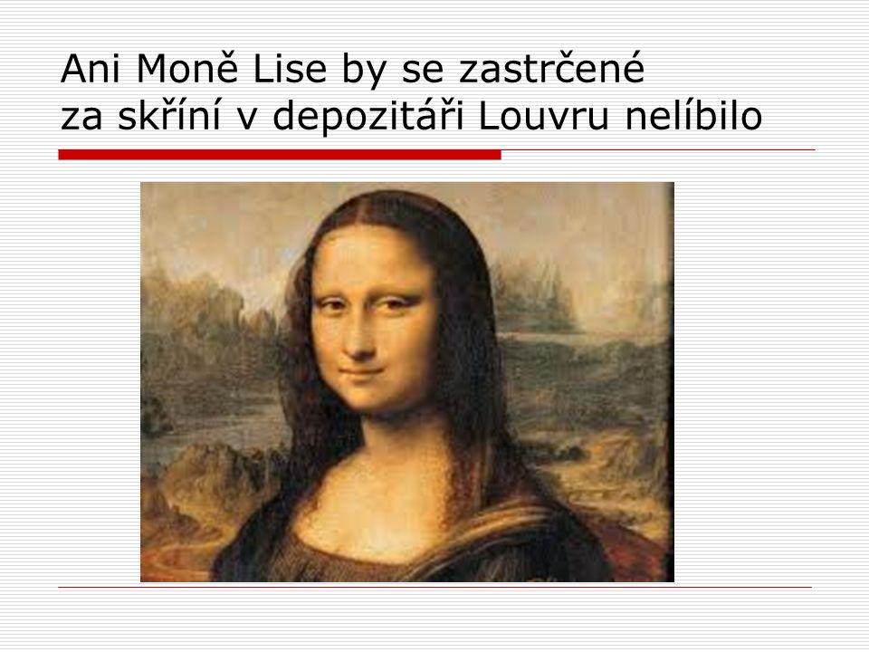 Ani Moně Lise by se zastrčené za skříní v depozitáři Louvru nelíbilo