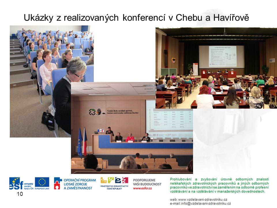 10 Ukázky z realizovaných konferencí v Chebu a Havířově