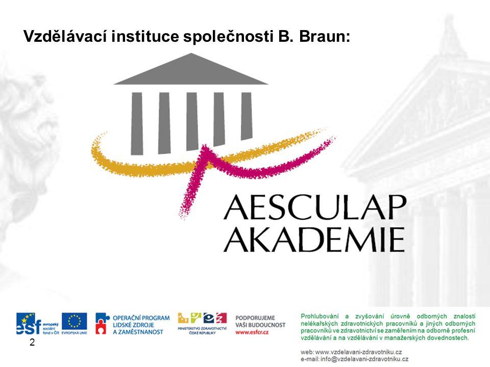 2 Vzdělávací instituce společnosti B. Braun: