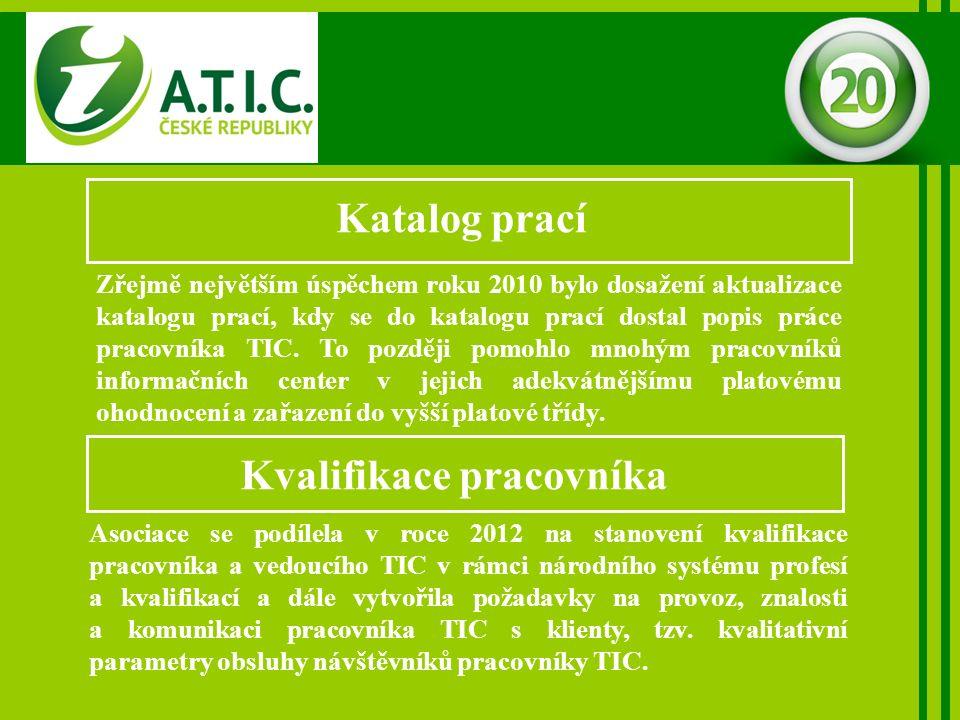 Katalog prací Zřejmě největším úspěchem roku 2010 bylo dosažení aktualizace katalogu prací, kdy se do katalogu prací dostal popis práce pracovníka TIC.