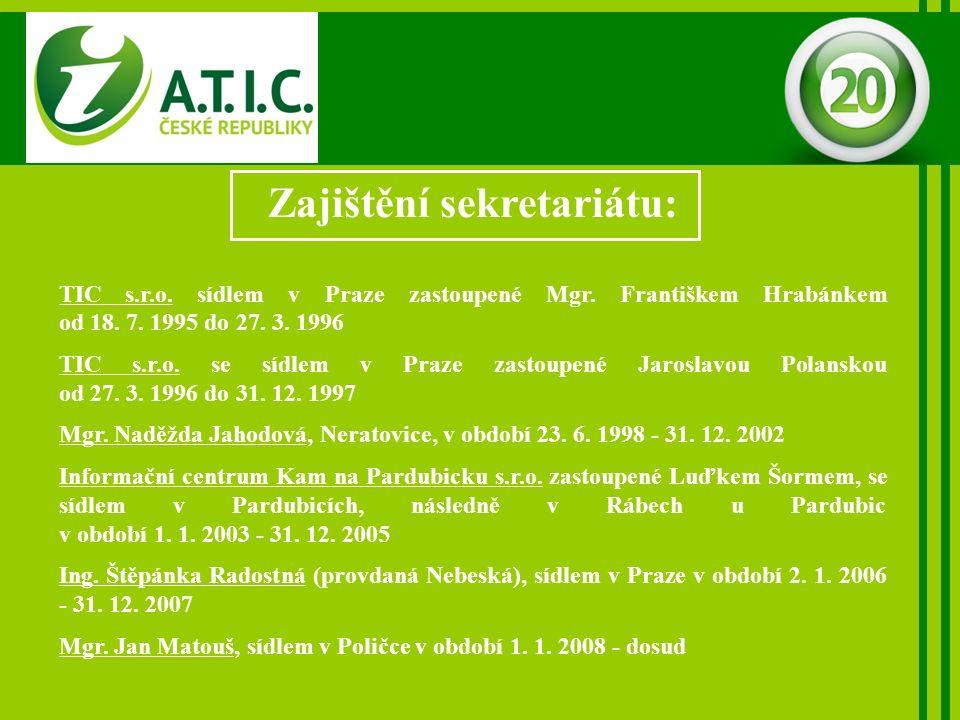 Zajištění sekretariátu: TIC s.r.o. sídlem v Praze zastoupené Mgr.