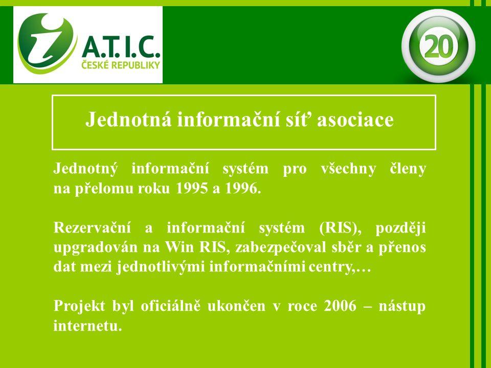 Jednotná informační síť asociace Jednotný informační systém pro všechny členy na přelomu roku 1995 a 1996.