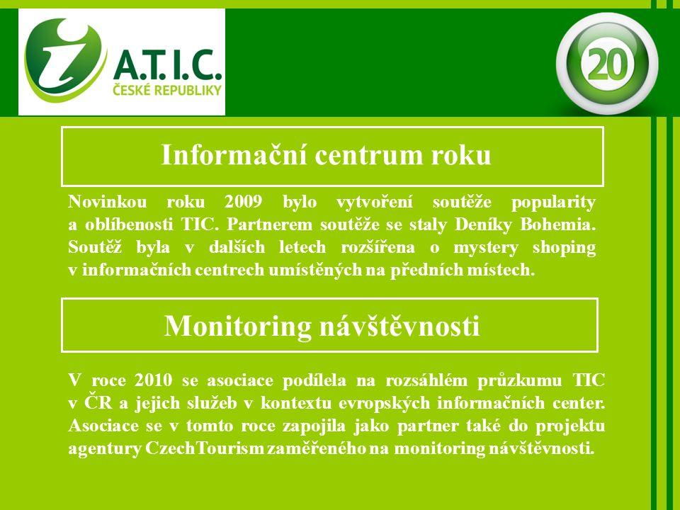 Informační centrum roku Novinkou roku 2009 bylo vytvoření soutěže popularity a oblíbenosti TIC.