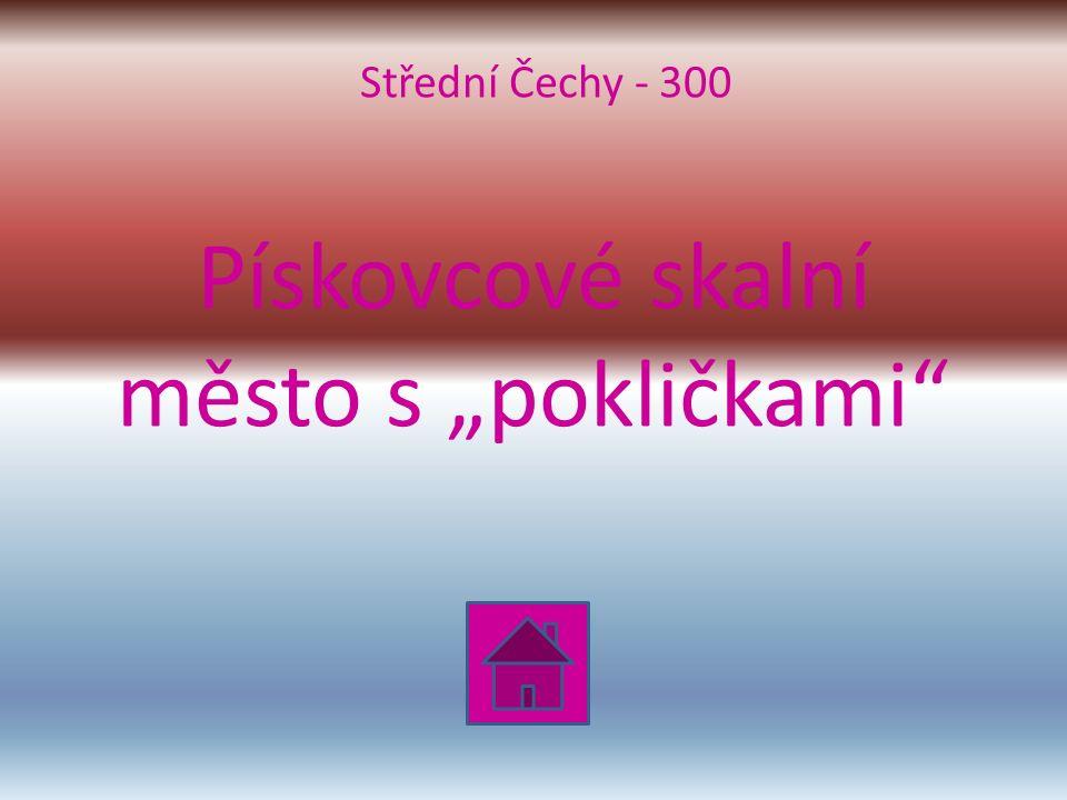 """Pískovcové skalní město s """"pokličkami Střední Čechy - 300"""