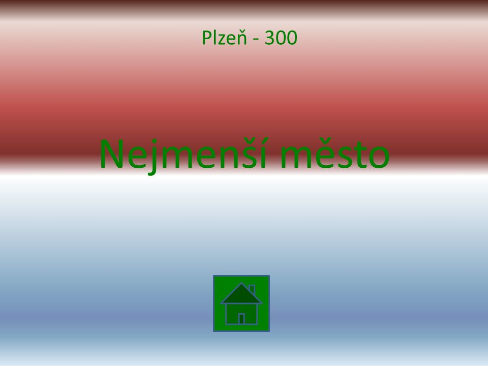 Nejmenší město Plzeň - 300