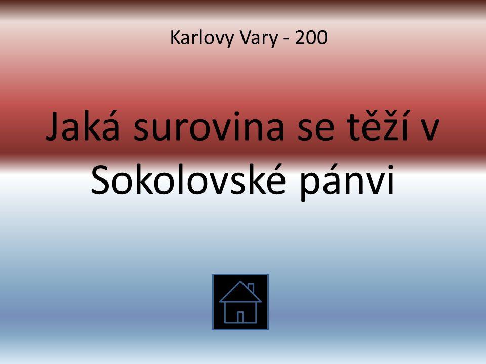Jaká surovina se těží v Sokolovské pánvi Karlovy Vary - 200