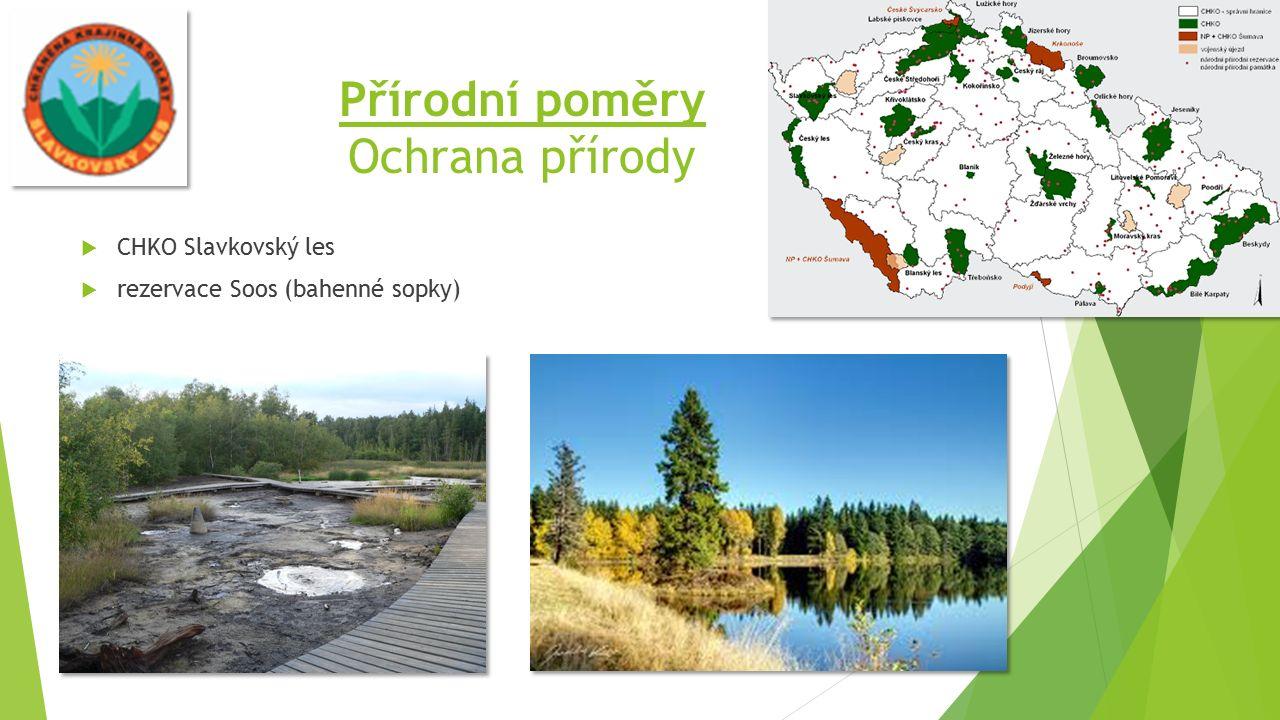 Přírodní poměry Ochrana přírody  CHKO Slavkovský les  rezervace Soos (bahenné sopky)