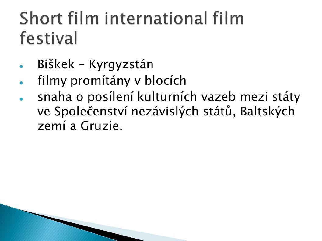 Biškek – Kyrgyzstán filmy promítány v blocích snaha o posílení kulturních vazeb mezi státy ve Společenství nezávislých států, Baltských zemí a Gruzie.