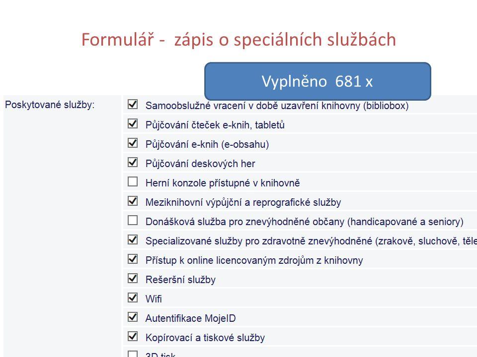 Formulář - zápis o speciálních službách Vyplněno 681 x