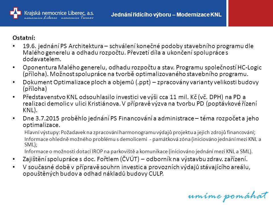 Jednání řídícího výboru – Modernizace KNL Děkuji za pozornost 13.