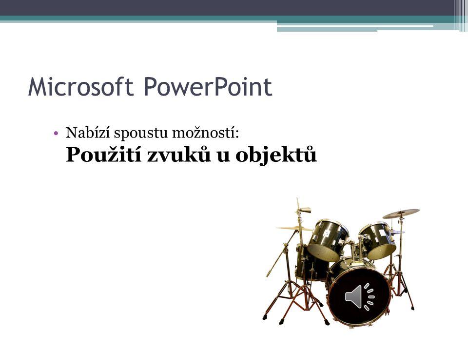 Microsoft PowerPoint  Přechod mezi snímky nebo na kliknutí myši