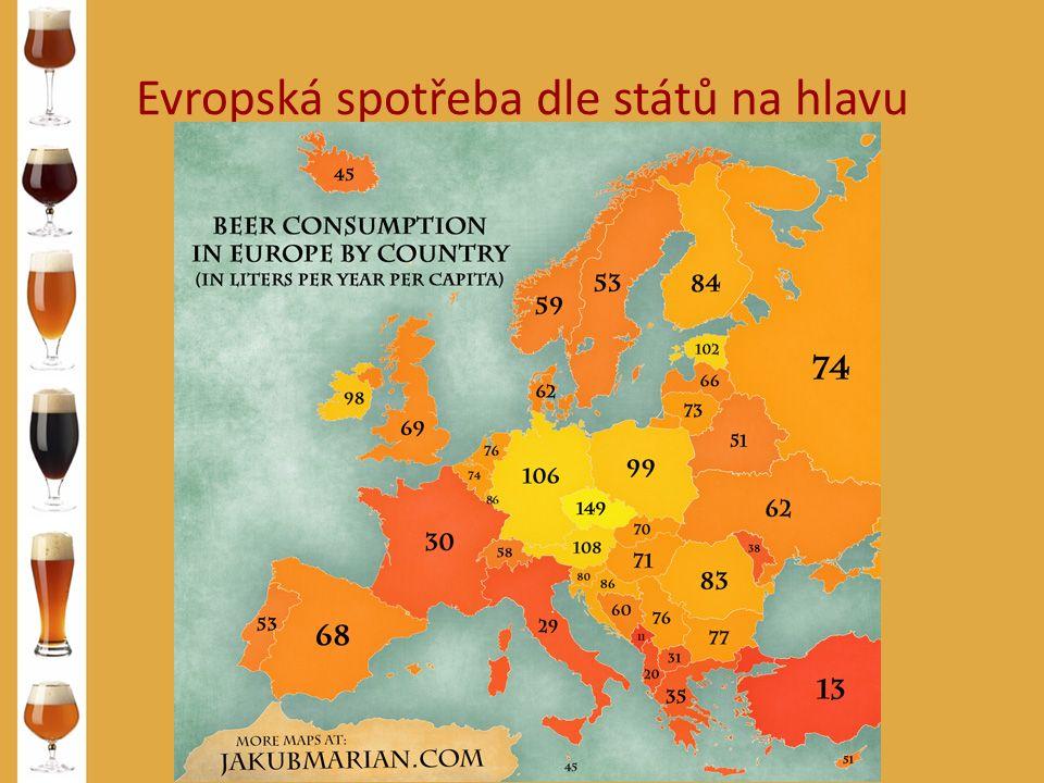 Evropská spotřeba dle států na hlavu