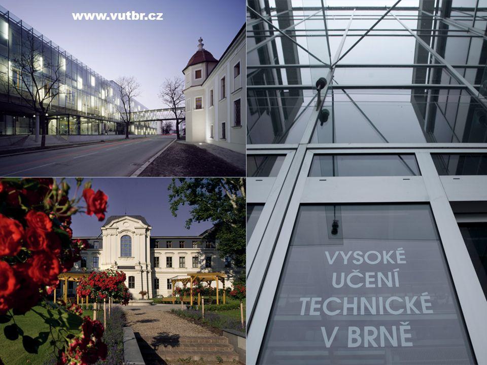 Univerzita s více než 115letou tradicí Nejstarší brněnská vysoká škola (založena 1899) Jedna z elitních evropských technických a výzkumných univerzit Prestižní ocenění ECTS a DS Label již od roku 2009 Dlouhodobě se umísťuje v žebříčku nejlepších světových univerzit QS Top Universities.