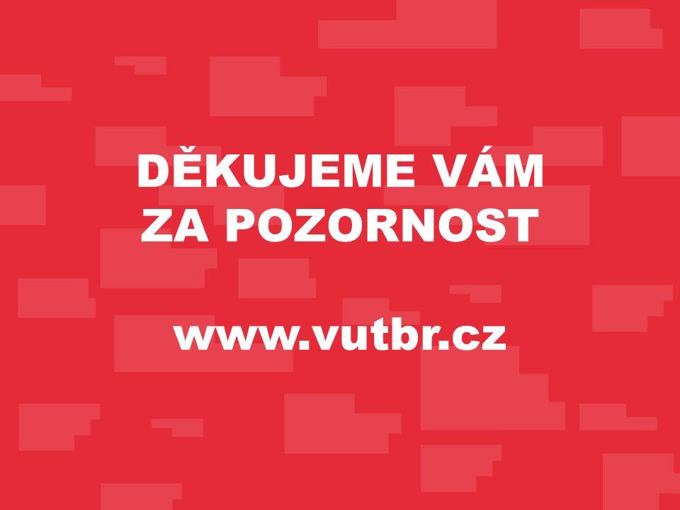 DĚKUJEME VÁM ZA POZORNOST www.vutbr.cz