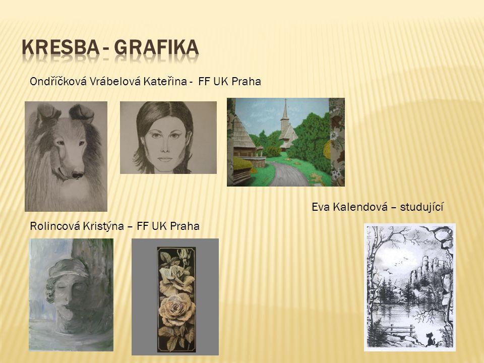 Ondříčková Vrábelová Kateřina - FF UK Praha Rolincová Kristýna – FF UK Praha Eva Kalendová – studující