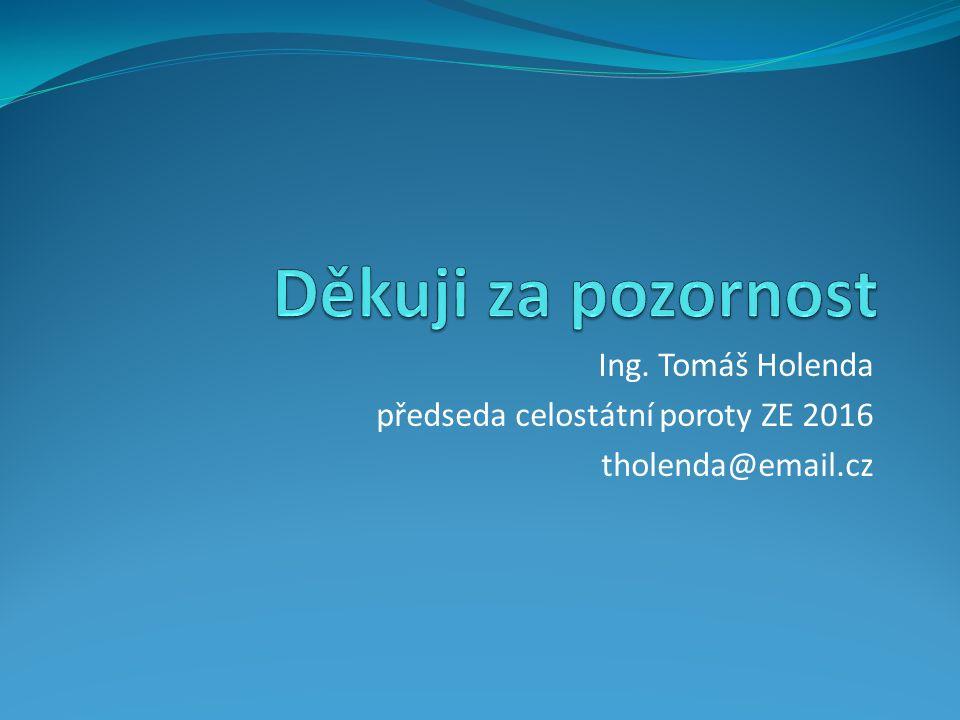 Ing. Tomáš Holenda předseda celostátní poroty ZE 2016 tholenda@email.cz