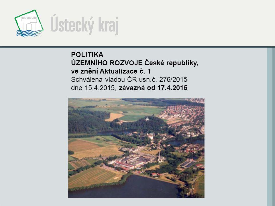 POLITIKA ÚZEMNÍHO ROZVOJE České republiky, ve znění Aktualizace č.