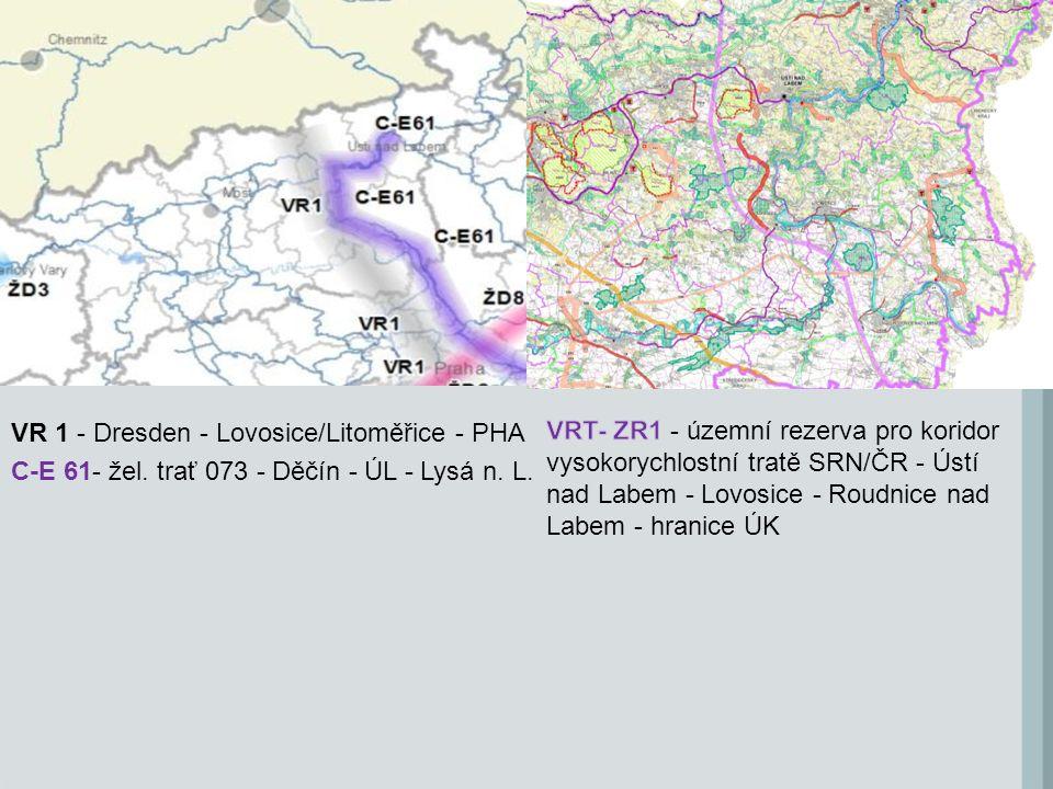 VR 1 - Dresden - Lovosice/Litoměřice - PHA C-E 61- žel. trať 073 - Děčín - ÚL - Lysá n. L.