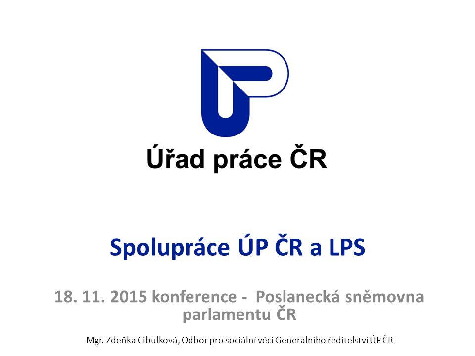 Spolupráce ÚP ČR a LPS 18. 11. 2015 konference - Poslanecká sněmovna parlamentu ČR Mgr.