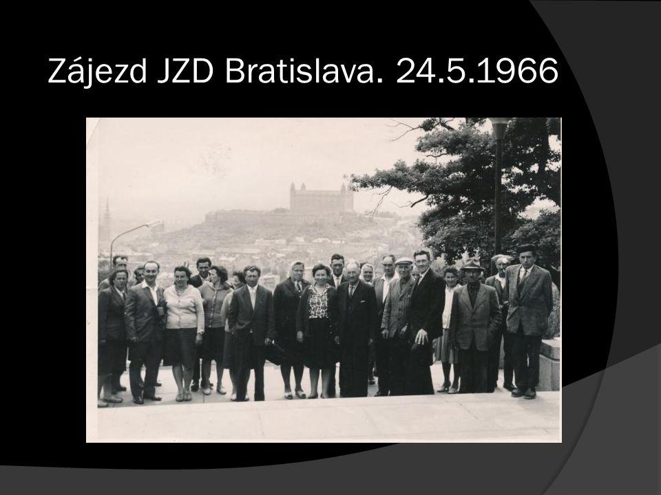 Zájezd JZD Bratislava. 24.5.1966