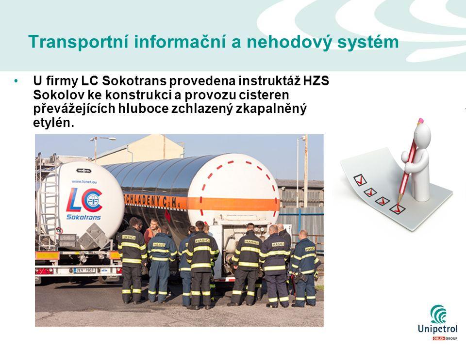 Transportní informační a nehodový systém U firmy LC Sokotrans provedena instruktáž HZS Sokolov ke konstrukci a provozu cisteren převážejících hluboce zchlazený zkapalněný etylén.