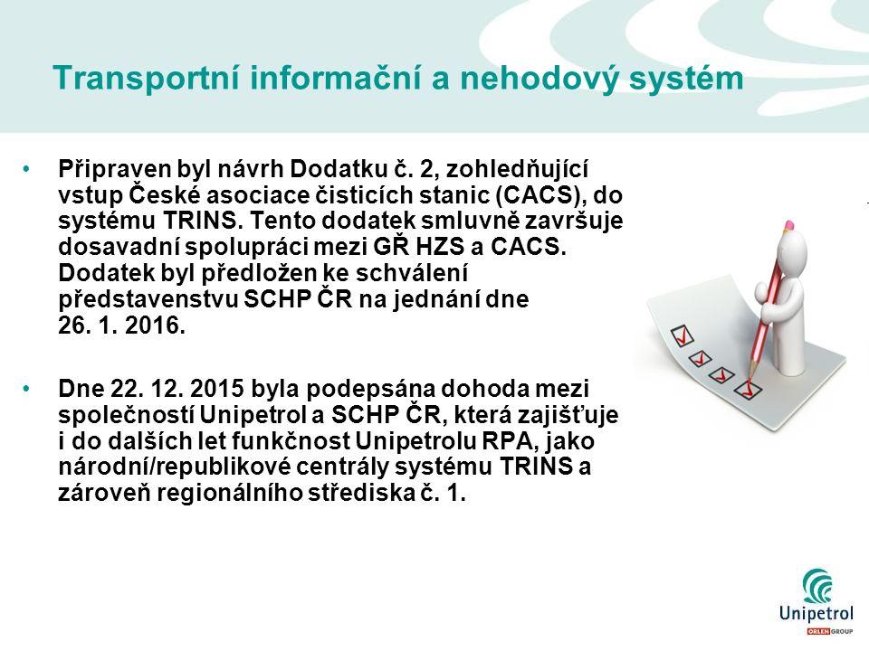 Transportní informační a nehodový systém Připraven byl návrh Dodatku č.