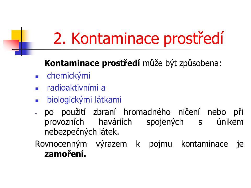 Základní dekontaminační činidla K dekontaminaci lze použít např.