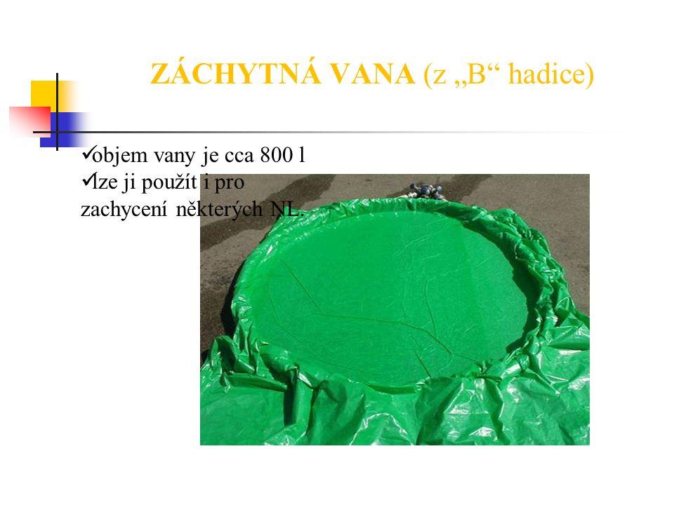 """ZÁCHYTNÁ VANA (z """"B"""" hadice) objem vany je cca 800 l lze ji použít i pro zachycení některých NL."""