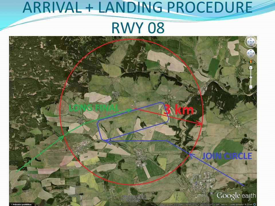 ARRIVAL + LANDING PROCEDURE RWY 08