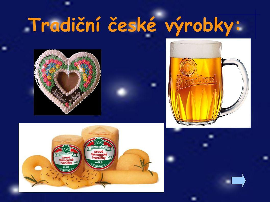 Spoj, co k sobě patří: ● kapr ● tvarůžky ● perník ● pivo ● bižuterie ● Plzeň ● Pardubice ● Loštice ● Jablonec ● Třeboň