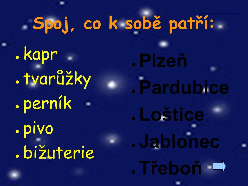 Doplň k místu, čím se proslavilo: ● Luhačovice ● Kralice nad Oslavou ● Zlín ● Karlovy Vary ● Uherský Brod