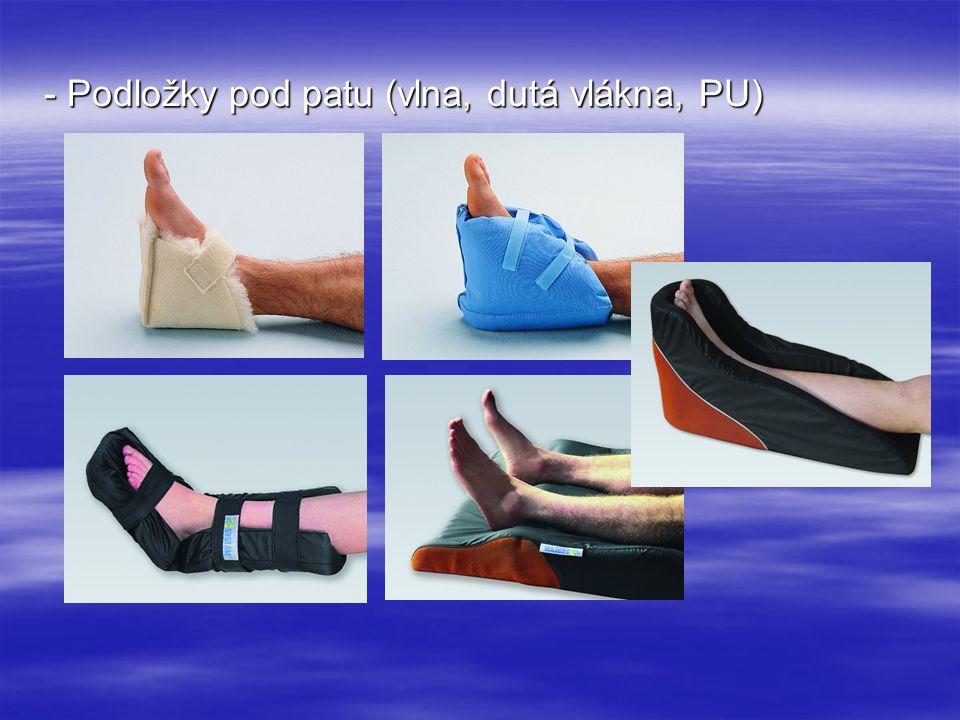 - Podložky pod patu (vlna, dutá vlákna, PU)