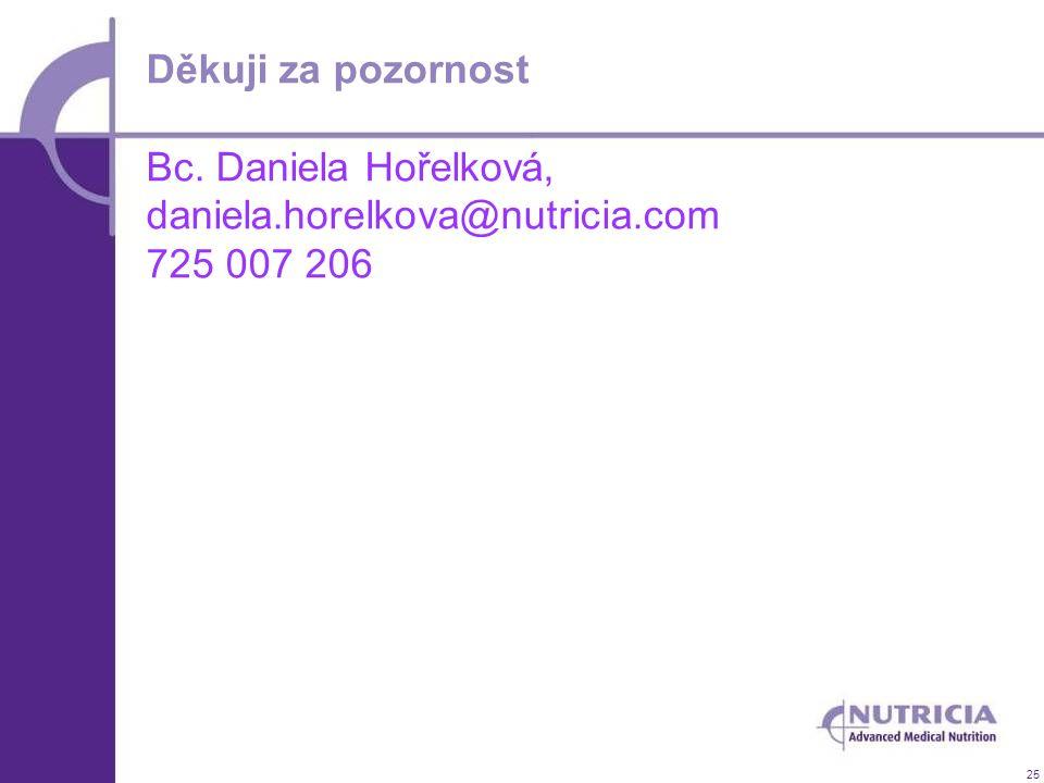 25 Děkuji za pozornost Bc. Daniela Hořelková, daniela.horelkova@nutricia.com 725 007 206