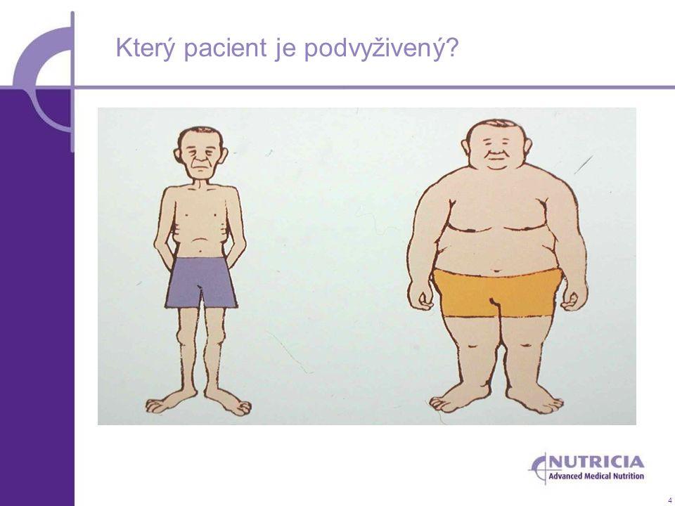 4 Který pacient je podvyživený?