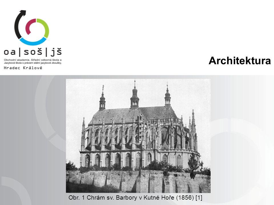 Architektura Obr. 1 Chrám sv. Barbory v Kutné Hoře (1856) [1]