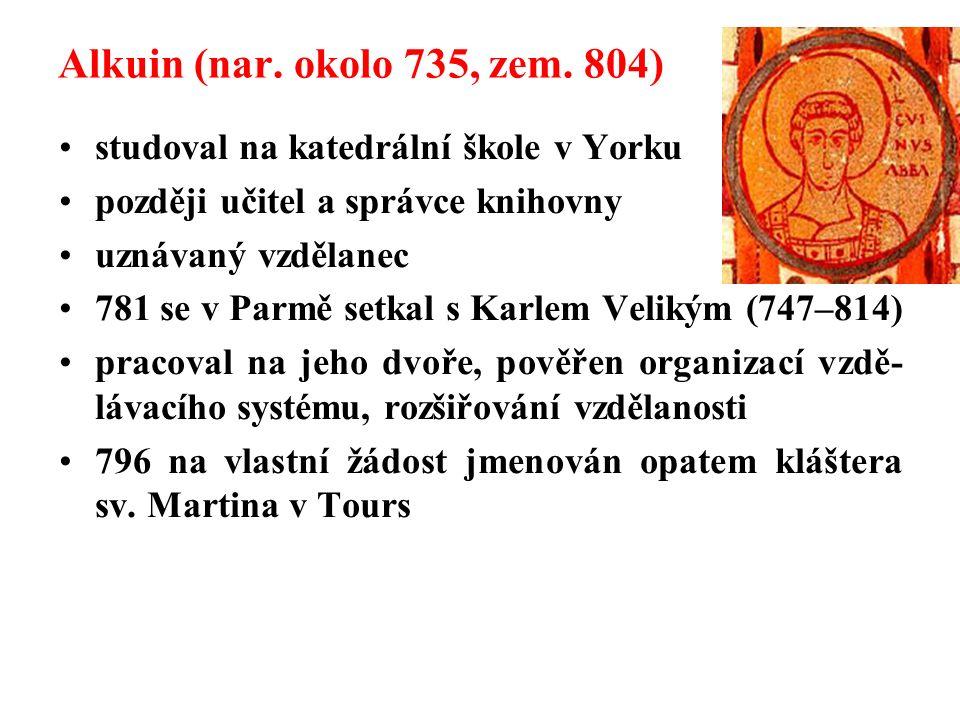 Alkuin (nar.okolo 735, zem.