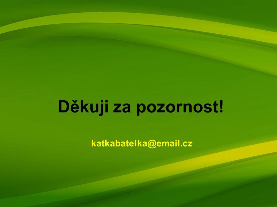 Děkuji za pozornost! katkabatelka@email.cz