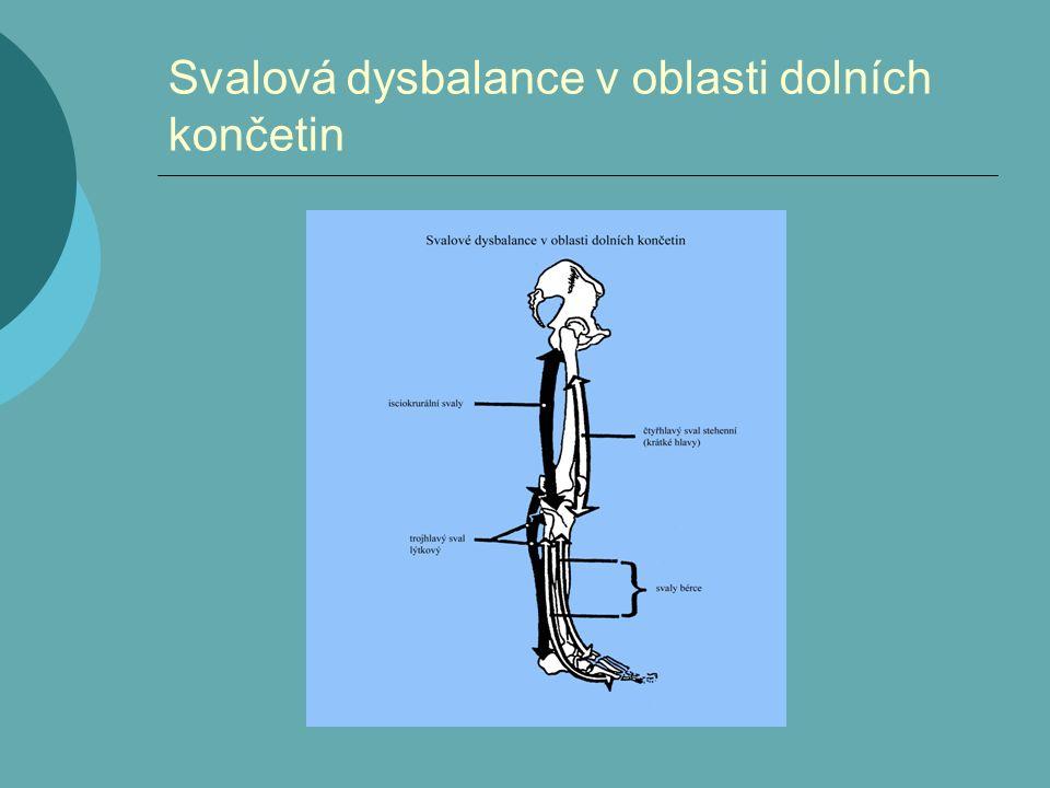 Svalová dysbalance v oblasti dolních končetin