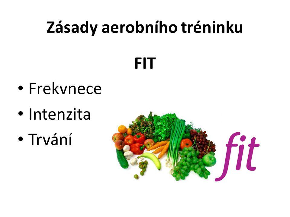 Zásady aerobního tréninku FIT Frekvnece Intenzita Trvání