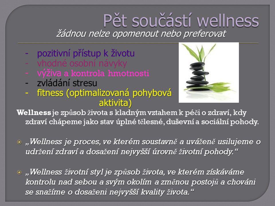 žádnou nelze opomenout nebo preferovat - pozitivní přístup k životu - vhodné osobní návyky - výživa a kontrola hmotnosti - zvládání stresu fitness (op