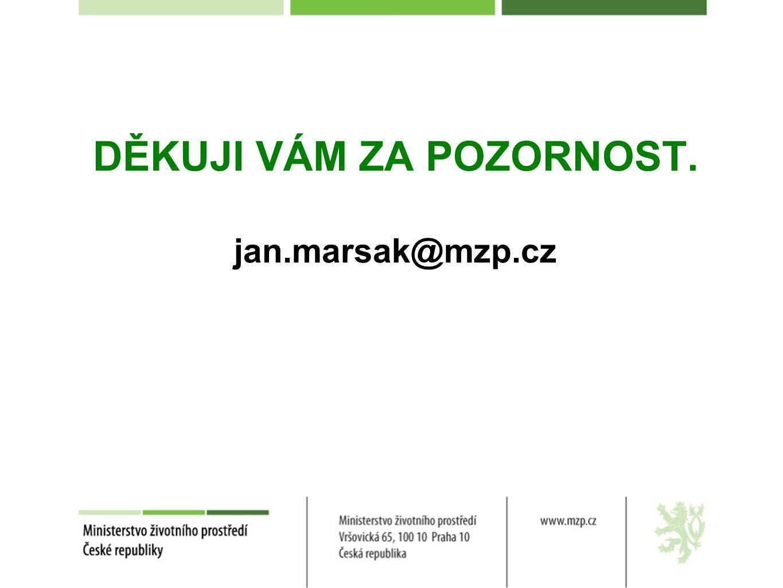 DĚKUJI VÁM ZA POZORNOST. jan.marsak@mzp.cz