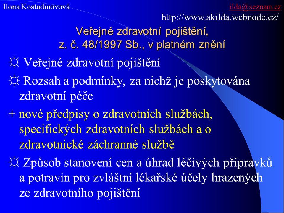 Veřejné zdravotní pojištění, z. č.