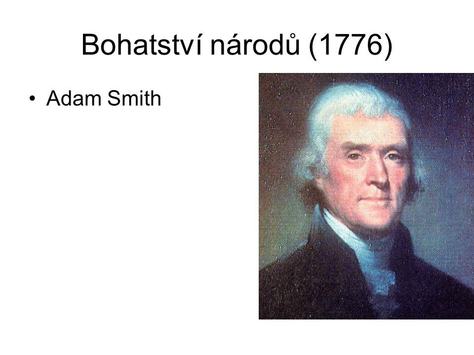 Bohatství národů (1776) Adam Smith
