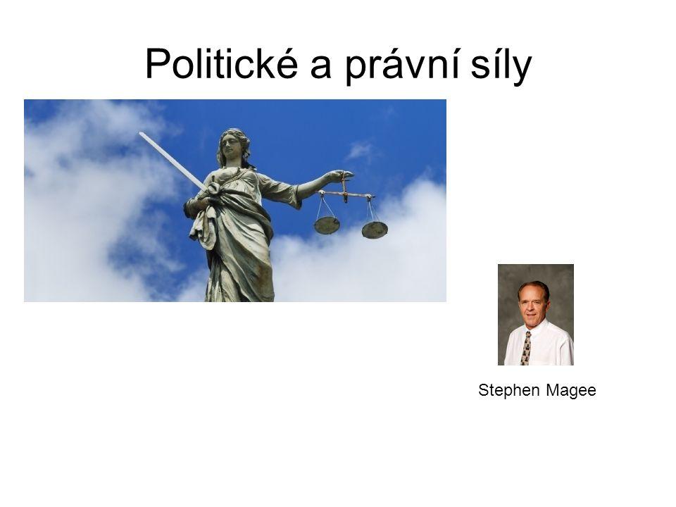 Politické a právní síly Stephen Magee