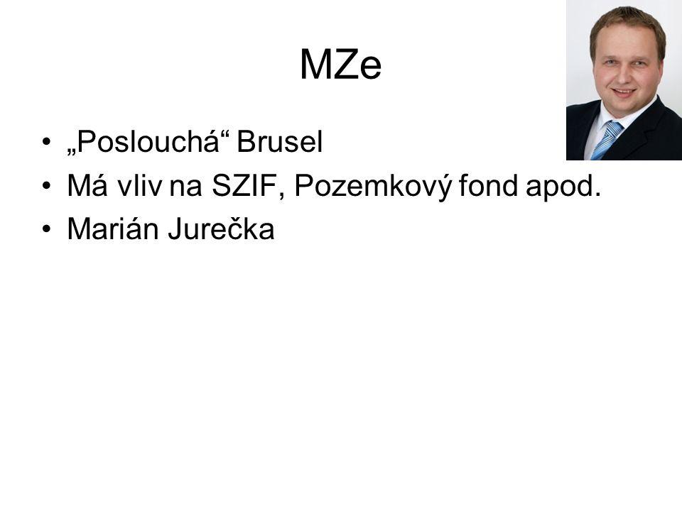 """MZe """"Poslouchá Brusel Má vliv na SZIF, Pozemkový fond apod. Marián Jurečka"""